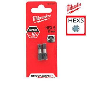 Milwaukee 4932352447 Shockwave impact duty schroefbit HEX5 25 mm (2st)