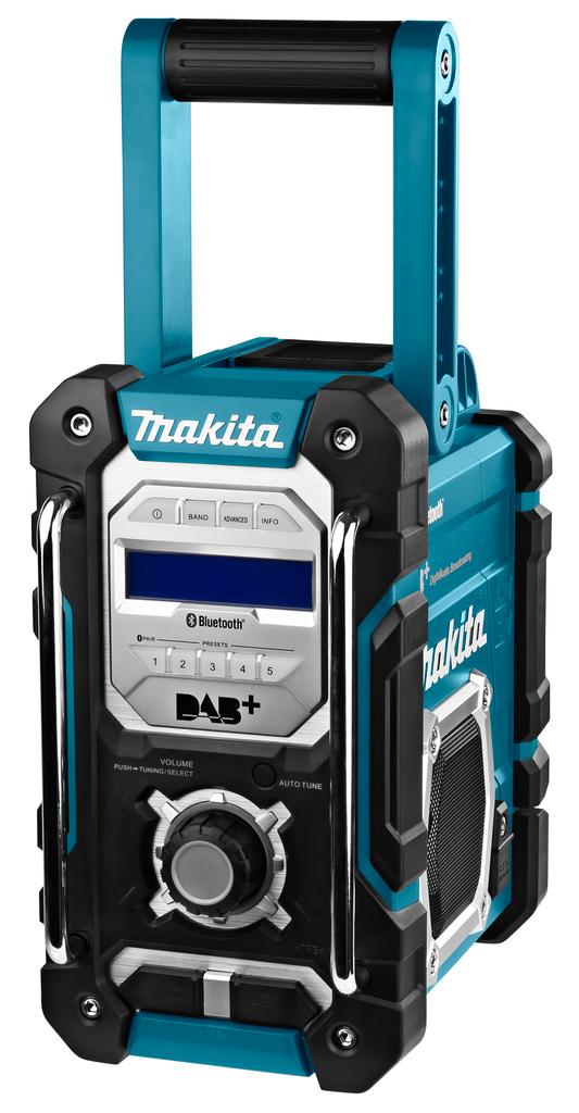 Makita DMR112 7.2-18V Li-Ion Accu bouwradio - DAB+&Bluetooth- werkt op netstroom&accu