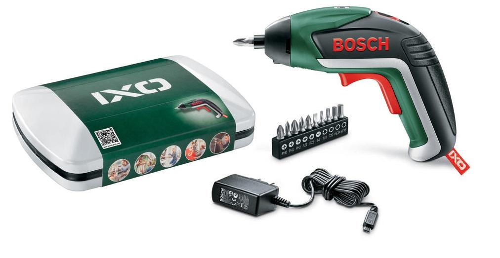 Bosch IXO V Basic 3.6V Li-Ion accu schroefmachine set (1.5Ah ingebouwd) in tinnen giftbox