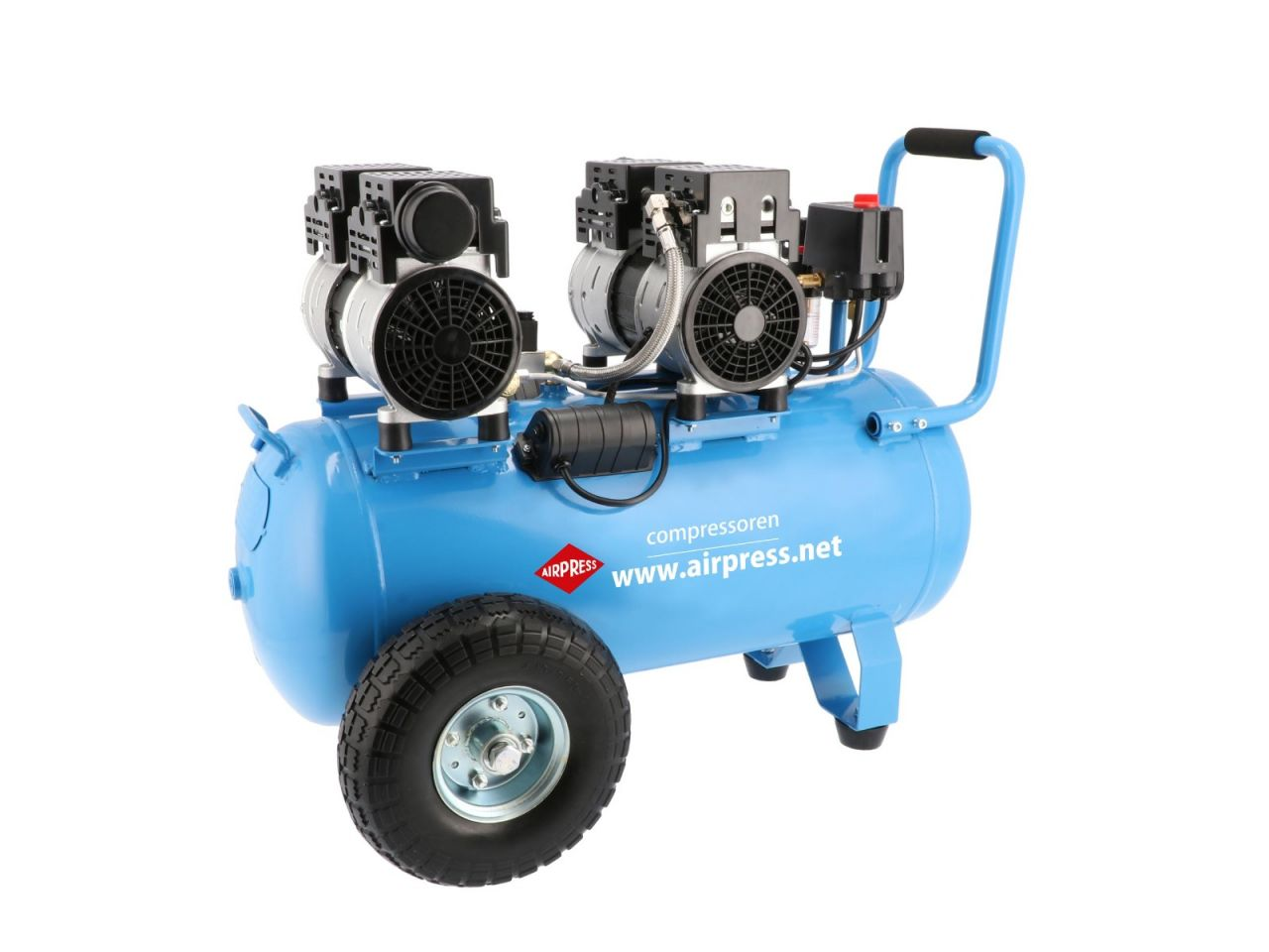 airpress LMO 50-270 Compressor - Olievrij - 1,5 kW - 8 bar - 256 l/min - 50L