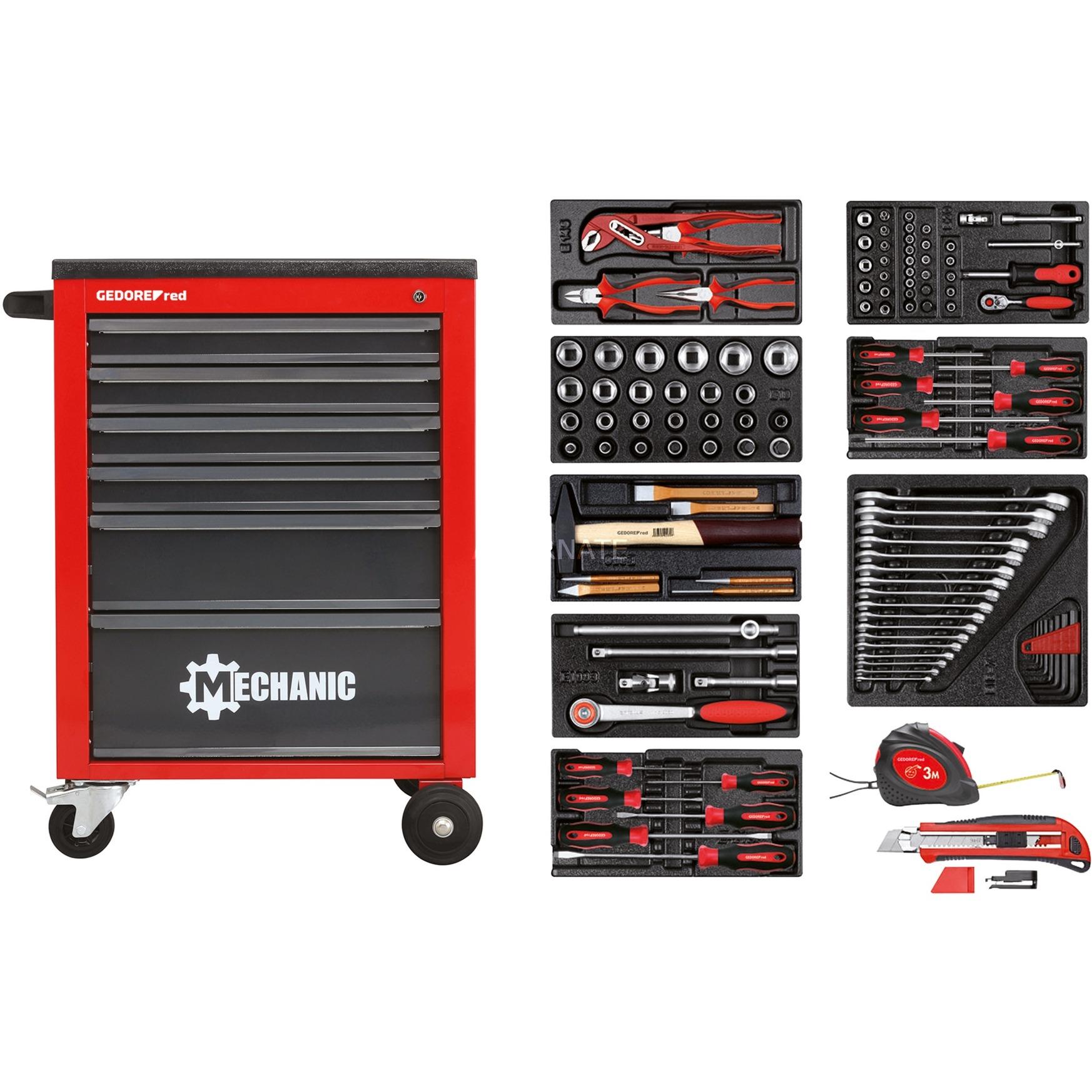 Gedore RED R21560001 119-delige Gereedschapswagen Mechanic