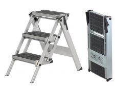 Little Jumbo 1313650300 Trap - Enkel - Aluminium - 3 treden kunststof - max. werkhoogte 2.70 m.