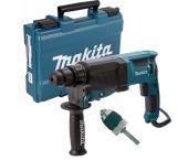 Makita HR2630X7 SDS-plus Combihamer incl. snelspanboorkop in koffer - 800W - 2,4J