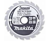 Makita B-09204 Specialized Cirkelzaagblad - 85 x 15 x 20T - Hout