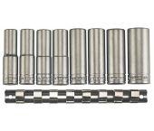 """Teng Tools M12086 8 Delige 1/2"""" Doppenset diep - 13 - 24 mm - 101710101"""
