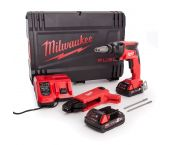 Milwaukee M18 FSGC-202X 18V Li-Ion accu Gipsschroefmachine / Bandschroefmachine set (2x 2,0Ah) in HD Box - koolborstelloos - 4933459199