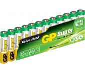 GP Alkaline Super Batterijen - AAA - 1,5V (12st) - 03024AS12