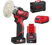 Milwaukee M12 BPS-421X 12V Li-Ion accu schuur-/polijstmachine set (1x 4.0Ah & 1x 2.0Ah accu) in HD Box - 4933447799