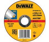 DeWalt DT42340 Rechte doorslijpschijf - 125 x 22,23 x 1,2mm - inox - DT42340-XJ