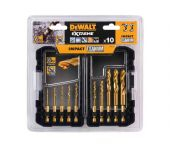DeWalt DT50050 10 delige Impact Titanium Metaalboren in Tough Case - DT50050-QZ