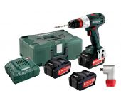 Metabo BS 18 LT Quick 18V Li-Ion accu boor-/schroefmachine set (3x 4.0Ah accu) in Metaloc - 602104960