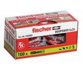 fischer 555005 DUOPOWER Universele pluggen - 5 x 25 mm (100st)
