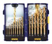 Irwin 10503991 15-delige HSS Titanium Metaalborenset - 1,5-10,0mm
