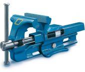 Heuer 100120 Bankschroef - Staal - Bekbreedte 120 mm - Klembereik 125 mm