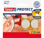Tesa 57894 Viltdoppen - Wit - 26mm (9st)