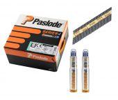 Paslode 141082 / 142036 Stripspijker geringd blank + gaspatronen - 3,1x90mm (2200st)