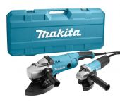 Makita DK0053G Haakse slijper set (GA9020 & 9558HN) in koffer - 2200W / 840W - 230mm / 125mm