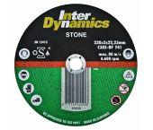 InterDynamics 390230 Diamantdoorslijpschijf - 230 x 22,23 x 3mm - steen