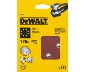 DeWalt DT3023 Vlak schuurvel - K120 - 115 x 115mm (10st) - DT3023-QZ