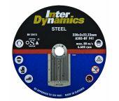 InterDynamics 391125 Diamantdoorslijpschijf - 125 x 22,23 x 3mm - metaal