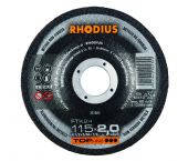 Rhodius 201064 TOPline lll FTK24 Doorslijpschijf - 115 x 22,23 x 2mm - Non-Ferro - 201064