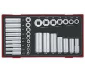 """Teng Tools TTAF32 32-delige Doppenset in tray - 3/8"""" en 1/4"""" - 68610104"""