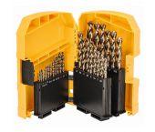 DeWalt DT4957 29 delige HSS-Co metaalboren set in cassette - DT4957-QZ
