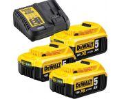 DeWalt DCB115P3 18V Li-Ion accu starterset (3x 5.0Ah) + lader - DCB115P3-QW