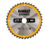 Dewalt DT1953 Construction Cirkelzaagblad - 216 x 30 x 40T - Hout (Met nagels) - DT1953-QZ