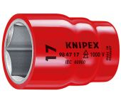 """Knipex 984722 VDE Dopsleutel - Zeskant - 22mm - 1/2"""" (L=58mm)"""