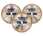 DeWalt DT1964 3 delige Cirkelzaagbladen set - 305 x 30 x 24t / 48t / 60t - Hout - DT1964