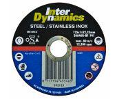 InterDynamics 392115 Diamantdoorslijpschijf - 115 x 22,23 x 1mm - RVS - inox