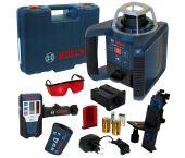 Bosch GRL 300 HV rotatie laser + afstandsbediening (RC 1) + houder (WM 4) + laser ontvanger (LR 1) set in koffer - 0601061501