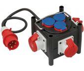 Brennenstuhl 1153680100 Compacte rubberen stroomverdeler BSV 3 LS E/16 2 IP 44 - 1m