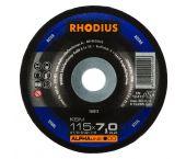 Rhodius 200013 Alphaline I KSM Afbraamschijf - 115 x 22,23 x 7mm - Staal - 200013