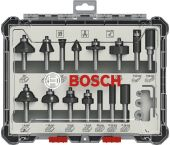 Bosch 2607017472 15-delige Frezenset in cassette - 8mm