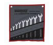 "Teng Tools 6509AF 9-delige Ring-/steeksleutelset in roltas - Inches - 1/4""-3/4"""