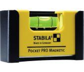 Stabila 17953 Mini pro magnetische waterpas met riemclip - 7cm