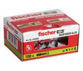 fischer 555006 DUOPOWER Universele pluggen - 6 x 30 mm (100st)