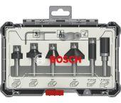 Bosch 2607017469 6-delige Frezenset in cassette - Afronden en profileren - 8mm