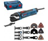 Bosch GOP 40-30 Multitool + 16 delige accessoireset in L-Boxx - 400W - 0601231001