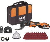 AEG OMNI 18C LI-202BKIT1X 18V Li-Ion accu Multitool set incl. accessoires in tas (2x 2,0Ah accu)  - 935446705