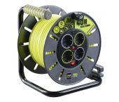 Masterplug Pro-XT Kabelhaspel - 40m - 4 stopcontacten - OLG40164SL-PX
